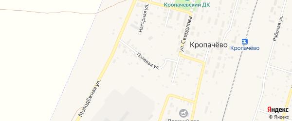 Полевая улица на карте поселка Кропачево с номерами домов