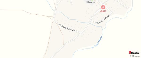 Улица Заки Валиди на карте села Байгускарово с номерами домов