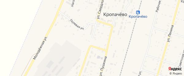 Улица Свердлова на карте поселка Кропачево с номерами домов