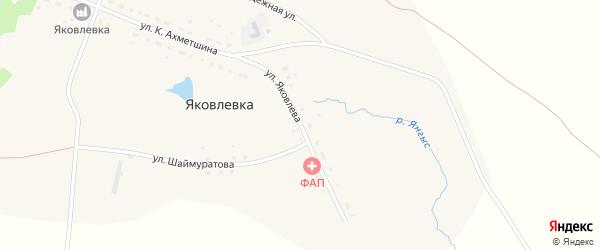 Улица Яковлева на карте села Яковлевки с номерами домов