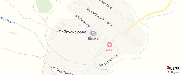 Юбилейная улица на карте села Байгускарово с номерами домов