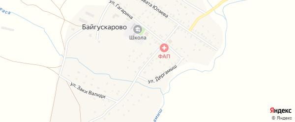 Улица Шаймуратова на карте села Байгускарово с номерами домов