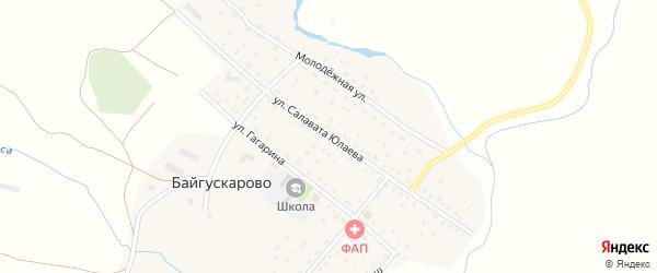 Улица Салавата Юлаева на карте села Байгускарово с номерами домов