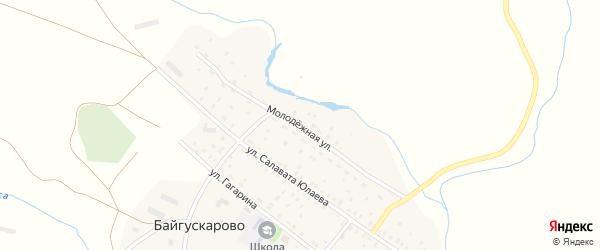 Молодежная улица на карте села Байгускарово с номерами домов