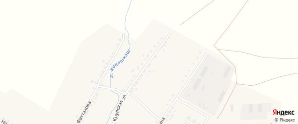 Крупская улица на карте села Улькунды с номерами домов