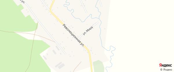 Улица Мира на карте села 2-е Иткулово с номерами домов