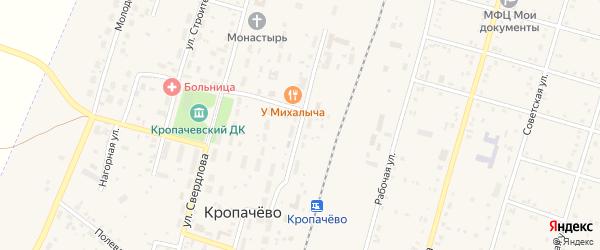 Вокзальная улица на карте поселка Кропачево с номерами домов