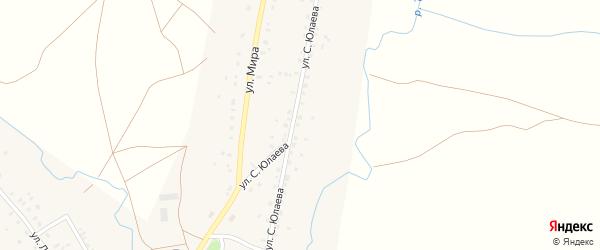 Улица С.Юлаева на карте села 2-е Иткулово с номерами домов