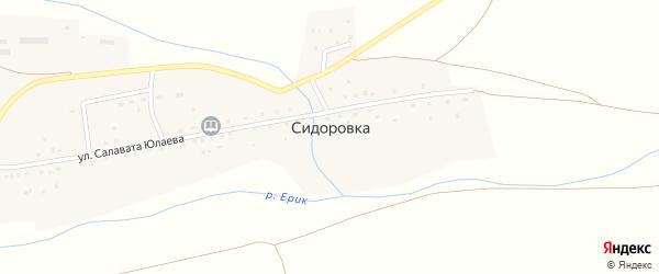 Молодежная улица на карте деревни Сидоровки с номерами домов