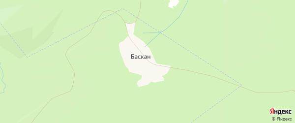 Карта деревни Баскана в Башкортостане с улицами и номерами домов