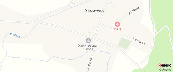 Улица Хидията Сагадатова на карте села Хамитово с номерами домов
