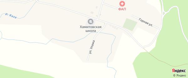 Улица Улажа на карте села Хамитово с номерами домов