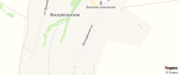 Молодежная улица на карте Воскресенского села с номерами домов