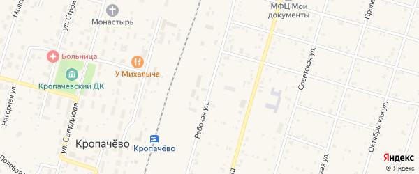 Южный переулок на карте поселка Кропачево с номерами домов
