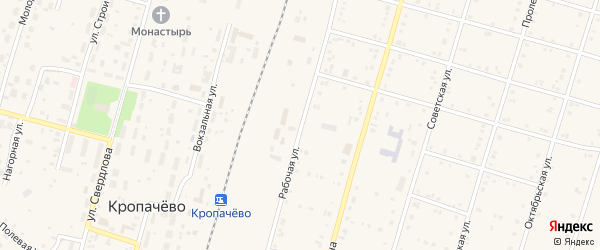 Территория Коллективный сад Борец на карте поселка Кропачево с номерами домов