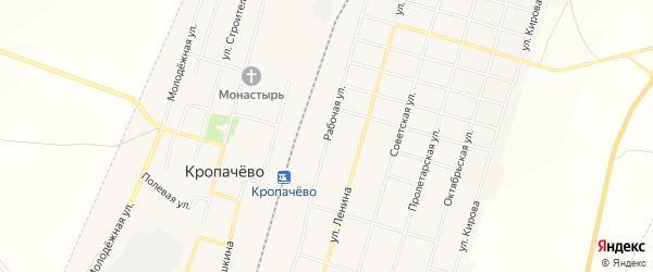 Карта поселка Кропачево в Челябинской области с улицами и номерами домов