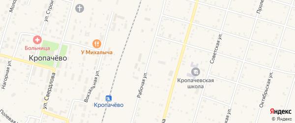 Нагорная улица на карте поселка Кропачево с номерами домов