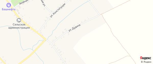 Улица Дудина на карте села Ярославки с номерами домов