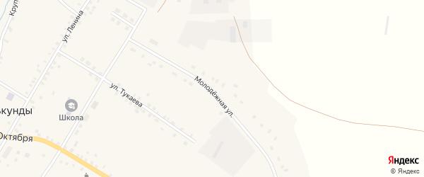 Молодежная улица на карте села Улькунды с номерами домов