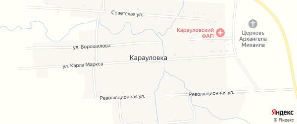 Пролетарская улица на карте села Карауловки с номерами домов