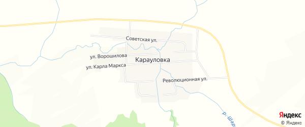 Карта села Карауловки в Челябинской области с улицами и номерами домов