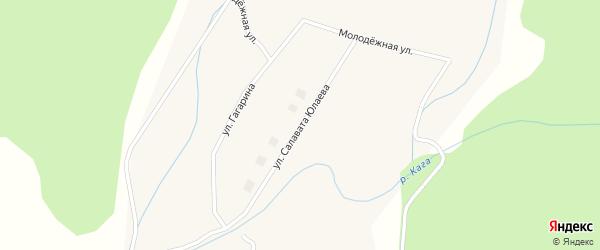 Улица Салавата Юлаева на карте села Хамитово с номерами домов