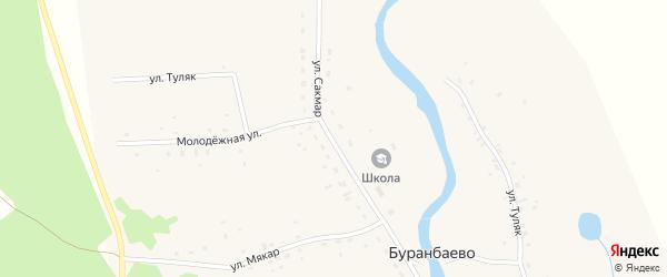 Улица Сакмар на карте деревни Чингизово с номерами домов