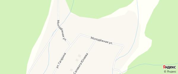 Молодежная улица на карте села Хамитово с номерами домов