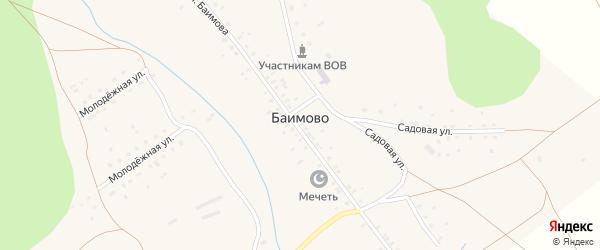 Садовая улица на карте деревни Баимово с номерами домов