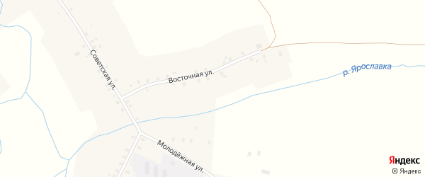 Восточная улица на карте села Ярославки с номерами домов