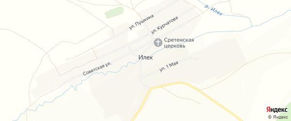 Карта села Илека в Челябинской области с улицами и номерами домов