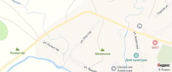 Улица Оло-тау на карте деревни Чингизово с номерами домов