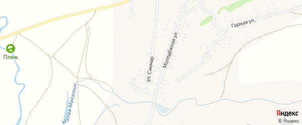 Улица Сакмар на карте деревни Сайгафара с номерами домов