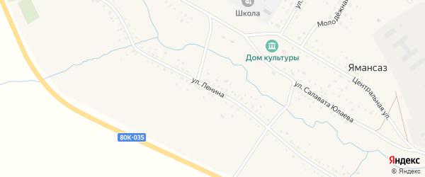 Улица Ленина на карте села Ямансаза с номерами домов