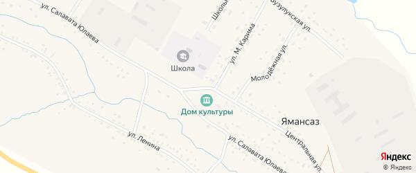 Центральная улица на карте Благовещенского хутора с номерами домов