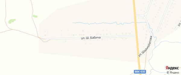 Улица Ш.Бабича на карте села Матраево с номерами домов
