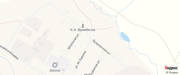 Бузулукская улица на карте села Ямансаза с номерами домов