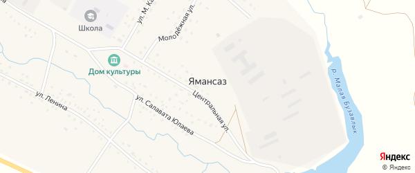 Школьная улица на карте села Ямансаза с номерами домов