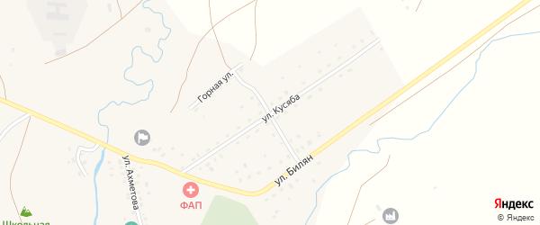 Улица Кусяба на карте деревни Чингизово с номерами домов