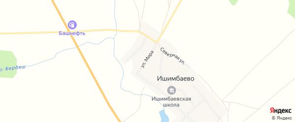 Карта села Ишимбаево в Башкортостане с улицами и номерами домов