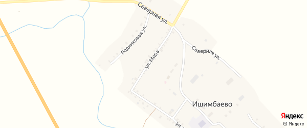 Южная улица на карте села Ишимбаево с номерами домов