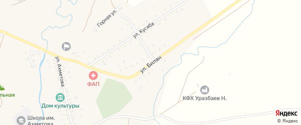 Улица Билян на карте деревни Чингизово с номерами домов