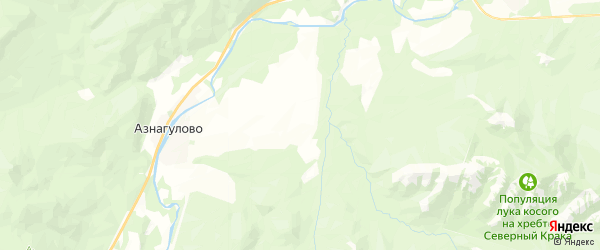 Карта Серменевского сельсовета республики Башкортостан с районами, улицами и номерами домов