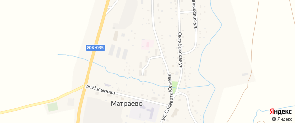 Молодежная улица на карте села Матраево с номерами домов