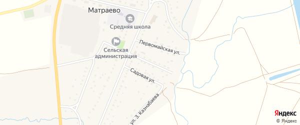 Улица Худайбердина на карте села Матраево с номерами домов