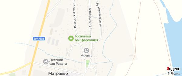Октябрьская улица на карте села Матраево с номерами домов