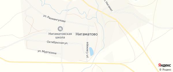 Карта села Нигаматово в Башкортостане с улицами и номерами домов