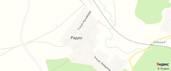 Улица Заки Валиди на карте деревни Радио с номерами домов