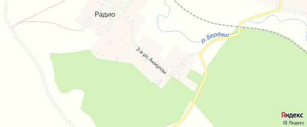 Улица Акмуллы на карте деревни Радио с номерами домов