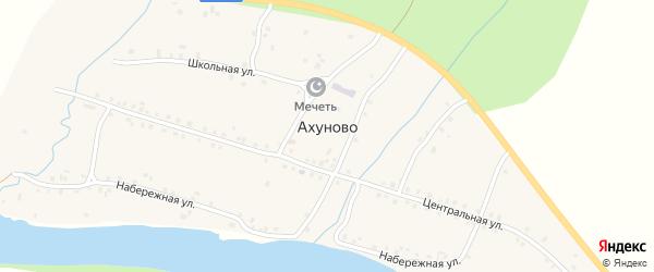 Улица Новостройка на карте деревни Ахуново с номерами домов